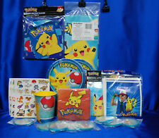 Pokemon Party Set # 14 Pikachu Plates Napkins Tablecover Invites Puzzles Banner+