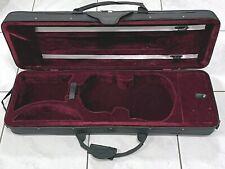 More details for violin case full size 4/4 lightweight black canvas red interior back straps