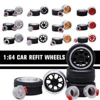 1/64 Scale Alloy Wheels - Custom Hot Wheels and other Diecast car Rubber Tires