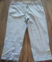 Talbots Petites Striped Capri Pants Size 10P Excellent Condition