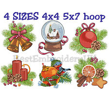 CHRISTMAS MACHINE EMBROIDERY DESIGNS - 6 EMBROIDERY DESIGNS - PES DST JEF FORMAT