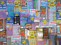 100 California Lottery Tickets Assorted Second Chance Scratchers 2nd Redeemable