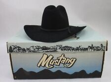 e5f0fdce2d505 Bailey Mustang Black Beaver Felt Cowboy Hat 6 3 4 NOS