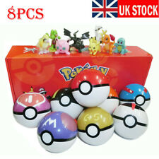 8Pcs Pokeball Ball set Pokemon GO Action Figures Christmas Kids Toy Xmas Gift UK