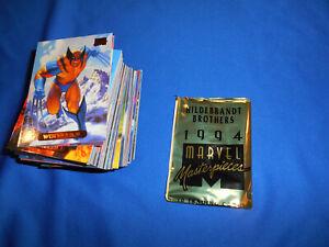 MARVEL MASTERPIECES 1994 Complete Base SET 140 TRADING CARDS WRAPPER HILDEBRANDT