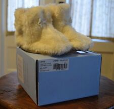 "Robeez ""Shiloh"" Faux Fur Slippers Booties Shoes Baby Girl's 12-18 Months Cream"