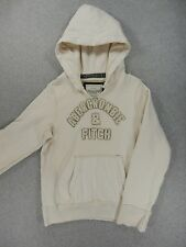 Abercrombie & Fitch Distressed Heavy Stitched Hoodie Sweatshirt (Adult Small)