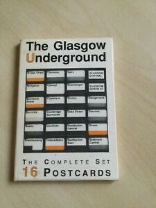 The Glasgow Underground the complete set of 16 postcards