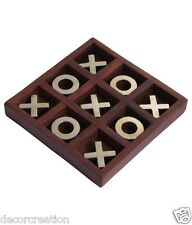 Wood & Brass Fancy Tic Tac Toe Decorative Fun Game for Kids Noughts and Crosses