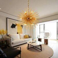 Modern Gold Sputnik Chandelier Ceiling Pendant Lamp Lighting Fixture For Bedroom