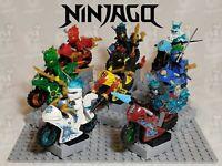 NINJAGO NINJAS & MOTORCYCLES SET OF 8 LOYD MINIFIGURES USA SELLER