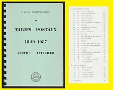 Belgique 1987 - Tarifs Postaux 1849 à 1987 Service Intérieur - EDM Deneumostier