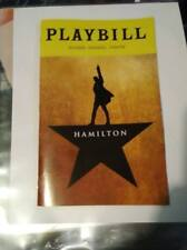 HAMILTON-(LIN MANUEL) (Broadway) PLAYBILL -OCT 2018 EDITION -FREE SHIPPING