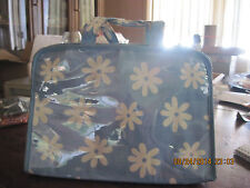 Blue & White Flower Travel/Make Up Collapsible Carry Case.....by Avon
