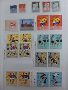 Paraguay stamps mainly unmounted  some used duplicate sets