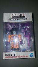 TRANSFORMERS Kre-O Orange Devastator & megatron weapon Kreo Botcon 2013 rare
