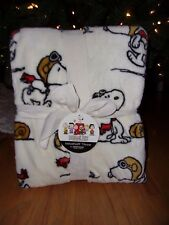 NEW PEANUTS SNOOPY BERKSHIRE THROW BLANKET 55X70 Flying Ace Pilot