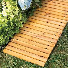 New listing 8 Foot Long Wooden Straight Pathway Bridge Garden Outdoor Home Decor Slat