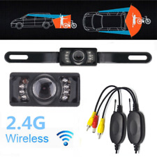 2.4G Wireless Car Reverse Rear View 7 IR Night Vision Parking Cam Backup Camera