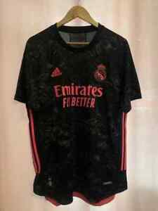 REAL MADRID 2020/2021 PLAYER ISSUE THIRD FOOTBALL SHIRT SIZE L [GE0932] ADIDAS