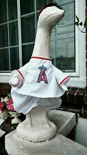 GOOSE CLOTHES LAWN LOS ANGELES OF ANAHEIM BASEBALL 24-27 GARDEN DECOR COTTON RED