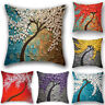 100% Cotton Throw Pillowcase Linen Bolster Sofa Car Cushion Cover Home Decor