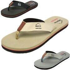 Alpine Swiss Men's Flip Flops Beach Sandals Lightweight EVA Sole Comfort Thongs