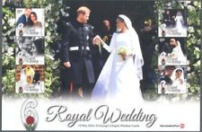 "New Zealand Royal Wedding ""P"" sheet fine used 2018"
