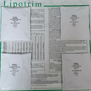 1 WEEK TFR LIPOTRIM DIET SHAKES FOR FEMALES ANY FLAVOURS