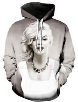 Sexy Marilyn Monroe 3D Print Hoodie Men Sweater Sweatshirt Jacket Pullover Tops