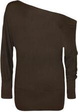 Maglie e camicie da donna casual marrone , Taglia 46