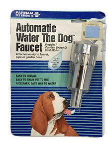 Vintage Water The Dog Automatic Faucet Waterer Farmam Pet Products NEW