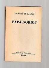 honore' de balzac - papa goriot - serie bur rizzoli -
