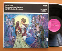 VICS 1412 Prokofiev Romeo & Juliet Excerpts Munch Boston RCA Stereo NEAR MINT LP