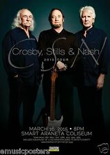 Crosby,Stills & Nash 2015 Manila, Philippines Concert Tour Poster-Group Standing