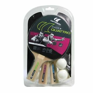 432053 CORNILLEAU Sport Table Tennis Quattro Set (4 Bats + 4 Balls)