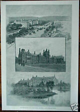 Original 1886 PRINT Australian Universities