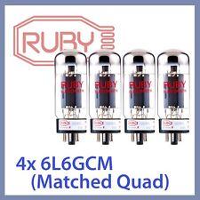4x NEW Ruby 6L6GC-M-STR 6L6GC 6L6GCM-STR Vacuum Tubes, Matched Quad TESTED