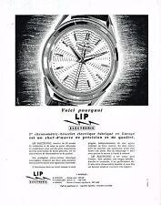 PUBLICITE ADVERTISING 044   1960    LIP  montre chronomètre-bracelet éléctrique