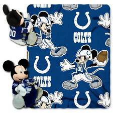 Indianapolis Colts Mickey Plush and Fleece Blanket