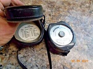 Gossen Sixticolor Color Temperature Meter in Leather Case, Works