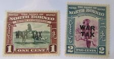 1941 North Borneo British Protectorate SCOTT #MR1-2 WAR TAX MH  stamps
