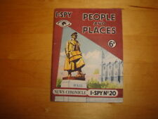 """I-SPY No: 20 - """"PEOPLE & PLACES"""" 1955 EDITION PRICE-MARKED 6 OLD PENCE"""