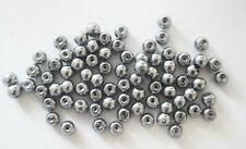 200 Glass Pearl Beads - 6mm - Grey