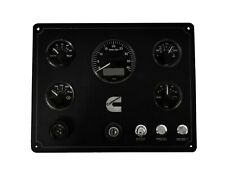 CUMMINS MARINE ENGINE CONTROL PANEL WITH 5 VDO VIEWLINE GAUGES