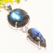 "Labradorite Gemstone Handmade Ethnic Fashion Jewelry Pendant 2.05"" SP-2092"