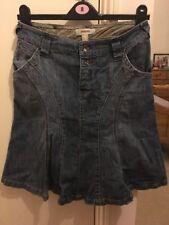 Denim Casual Asymmetrical Skirts for Women