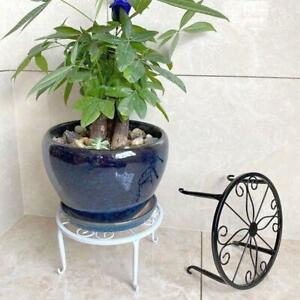 Metal Wrought Iron Outdoor Indoor Pot Plant Stand Garden Decor Flower Rack NEW