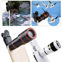 Smartphone 12 Zoom Optical Telescope Camera Telephoto HD Focus Cell Phone Lens