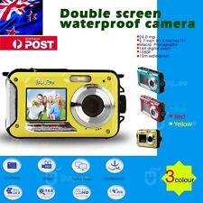 DOUBLE SCREEN HD 24MP WATERPROOF DIGITAL VIDEO CAMERA 1080P DV,YELLOW,UNDERWATER
